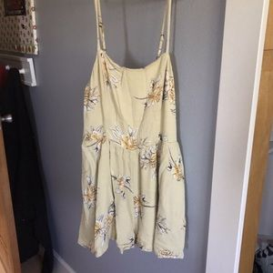 Dresses & Skirts - urban outfitters kimchi blue yellow floral romper